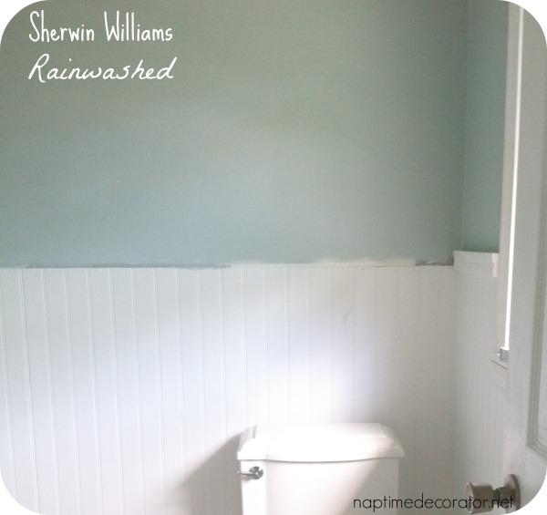 Sherwin Williams Rainwashed Bathroom. 121