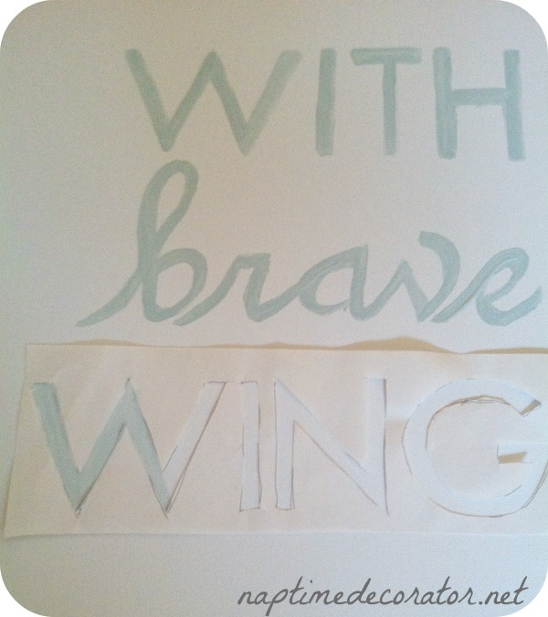 diy stencils: With brave wings she flies