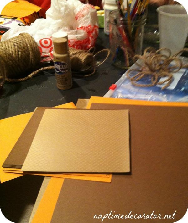 fall craft night/ DIY banner