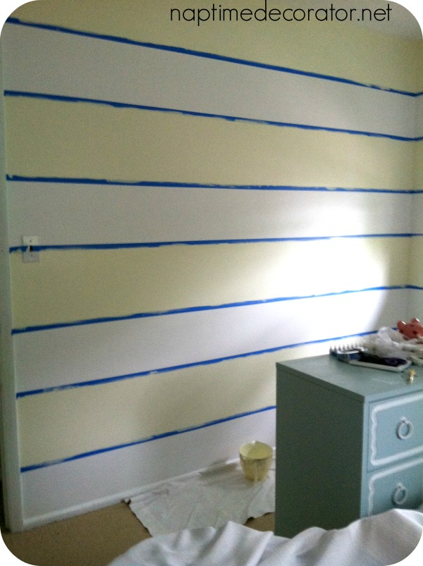 striped wall, @SherwinWilliams #Watery