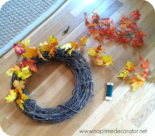 how to make a fall wreath for $2