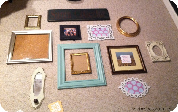 how to make a gallery wall for under $10