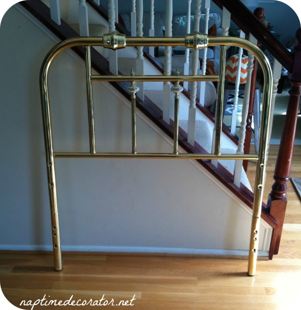 spray painting a brass headboard