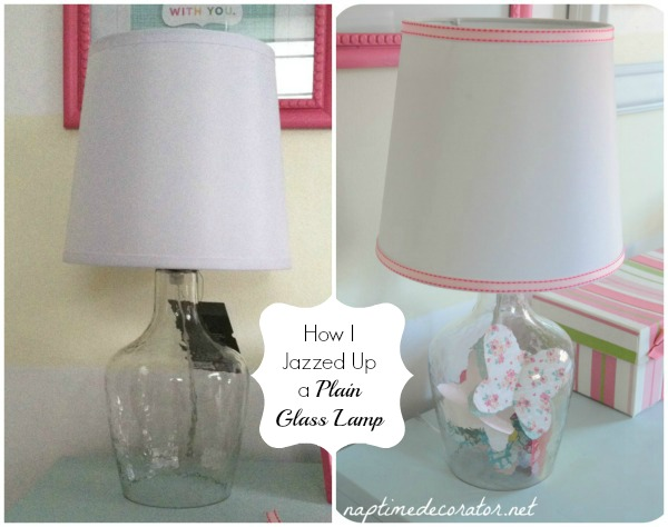 how I jazzed up a glass lamp