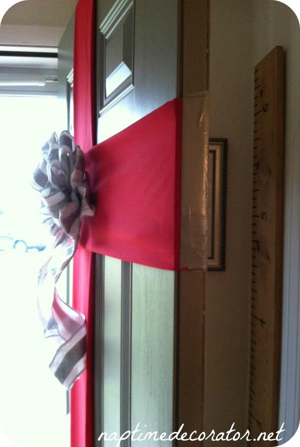 Christmas present front door