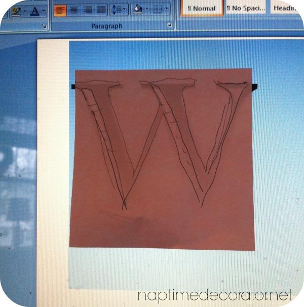 monogrammed napkin holder