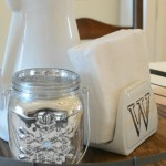 DIY monogrammed napkin holder