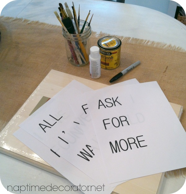how to make a sign with no stencils