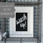 DIY Chalkboard bathroom art
