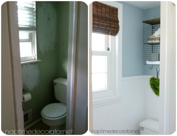Budget Powder Room Makeover Before And Afters