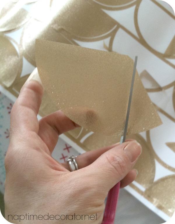 DIY gold flecked wall