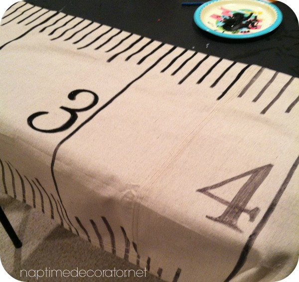 DIY Np Sew Ruler Table Runner