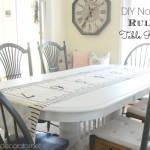 DIY No-Sew Ruler Table Runner
