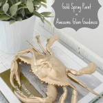gold spray painted crab