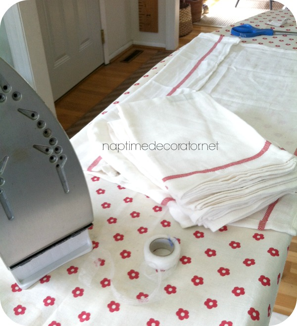 Tea Towel Kitchen Curtains: No-Sew Curtains From Ikea Tea Towels