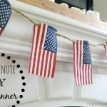 Easy 5 minute DIY Flag Banner