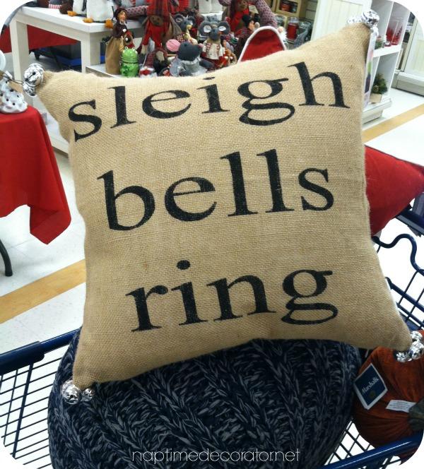 Sleigh bells ring pillow