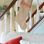 Easy Personalized Burlap Christmas Stockings