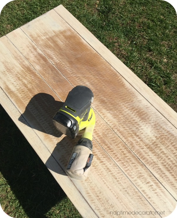 sanding coffee table