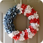 Red, White, and Blue Wreath…Using Trash?!