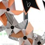 DIY Halloween Pinwheel Wreath