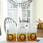BOO! Halloween Mason Jars