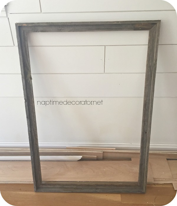 DIY shiplap in a frame