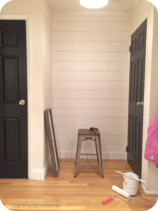 DIY mudroom nook