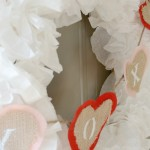 Winter White Coffee Filter Wreath (Decked out for Valentine's Day!)