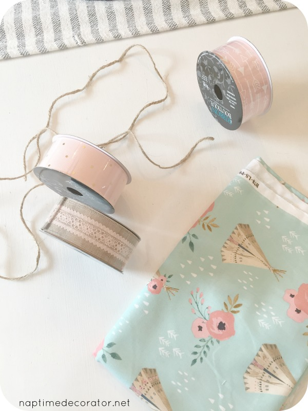 diy ribbon garland