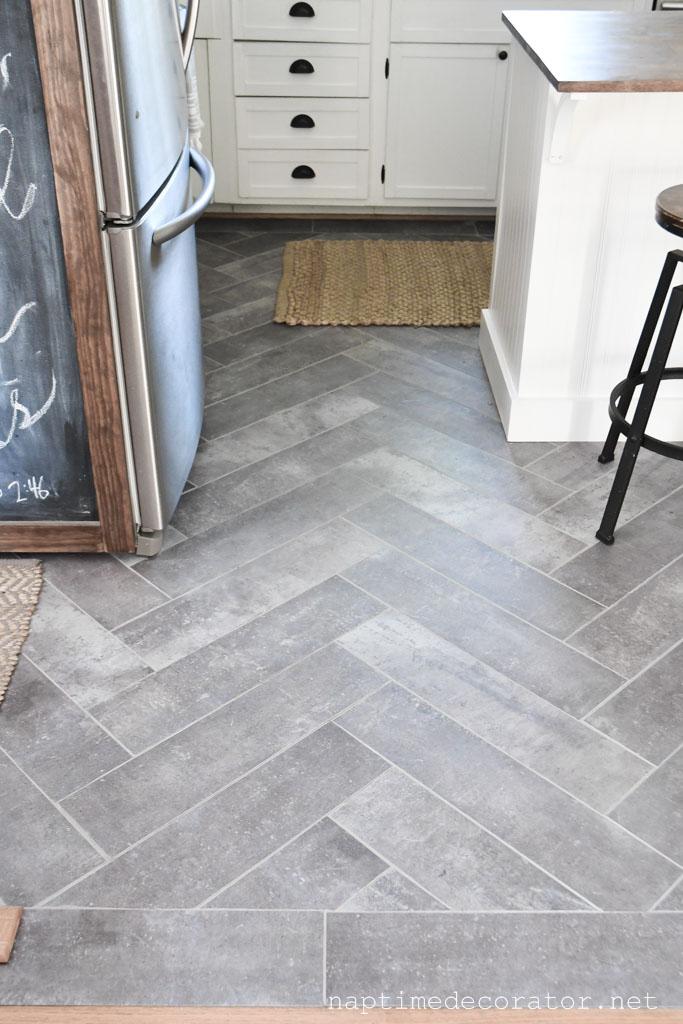 Stick Floor Tile In The Kitchen