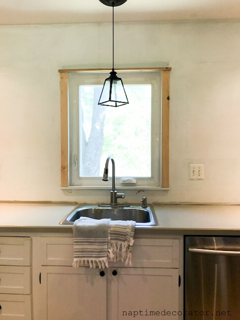 Adding Character Window Trim In The Kitchen