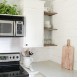 Filling an Awkward Kitchen Space with DIY Wood Shelves